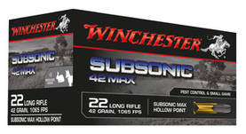 Winchester Subsonic Max .22lr 50kpl -  - 020892103337